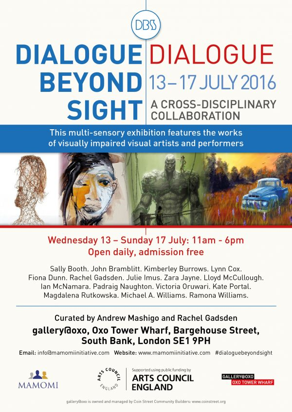 Dialogue Beyond Sight Exhibition leaflet
