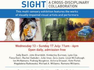 Dialogue Beyond Sight Exhibition leaflet