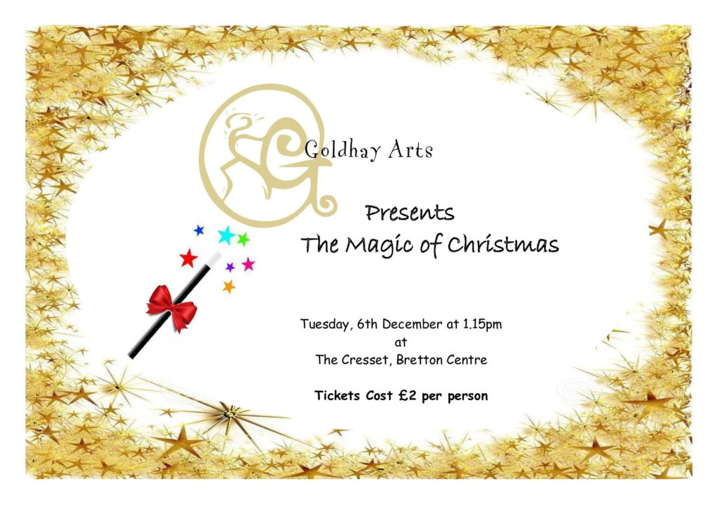 Goldhay Arts Christmas Show Poster