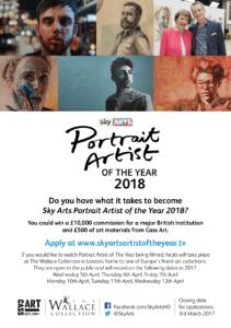 Sky Arts Portrait Artist Flyer